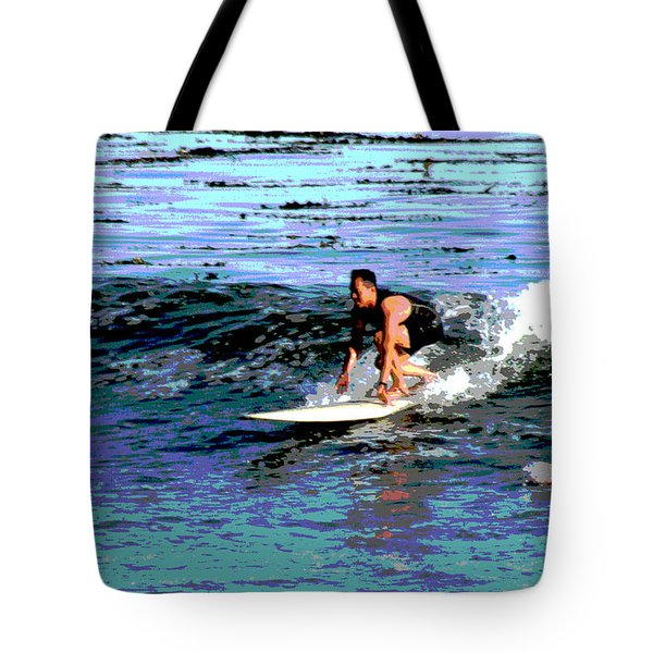 Friends Sharing A Wave Tote Bag