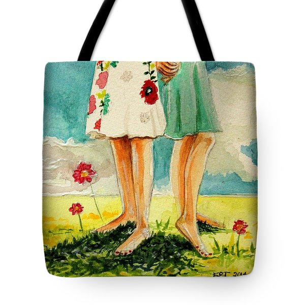 Friendship Tote Bag by Elizabeth Robinette Tyndall