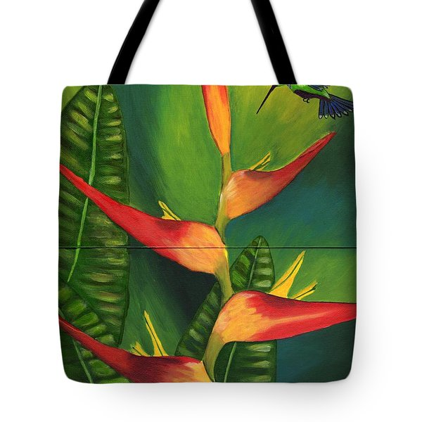Tote Bag featuring the painting Friendship by Laura Forde
