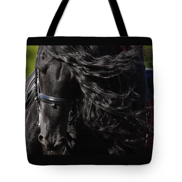 Tote Bag featuring the photograph Friesian Beauty D8197 by Wes and Dotty Weber