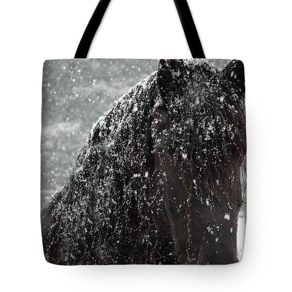 Friesian Snow Tote Bag