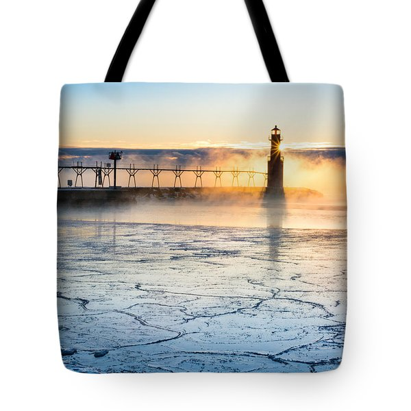 Frigid Sunrise Fog  Tote Bag