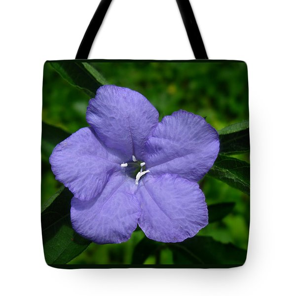 Tote Bag featuring the photograph Wild Fringeleaf Ruellia by William Tanneberger