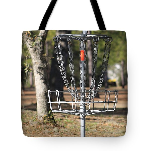 Frisbee Golf Tote Bag by Debra Forand