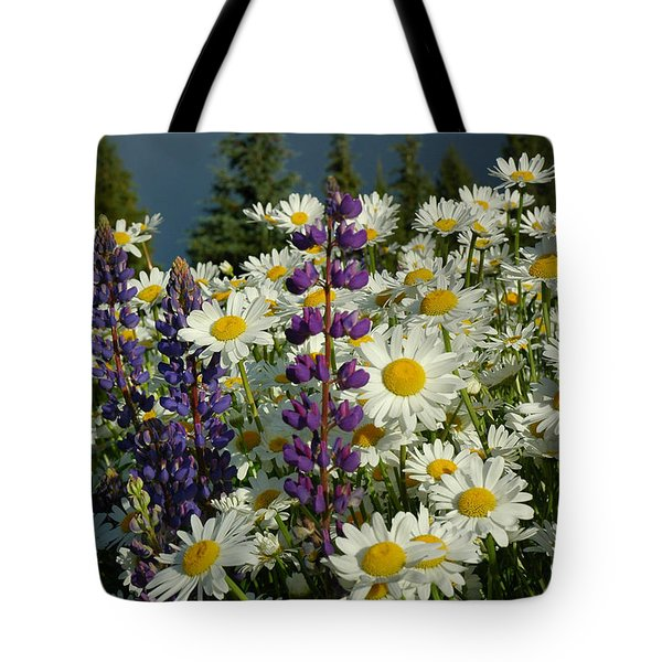 Tote Bag featuring the photograph Frisco Flowers by Lynn Bauer