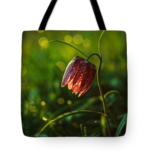 Fritillaria Meleagris Tote Bag by Davorin Mance