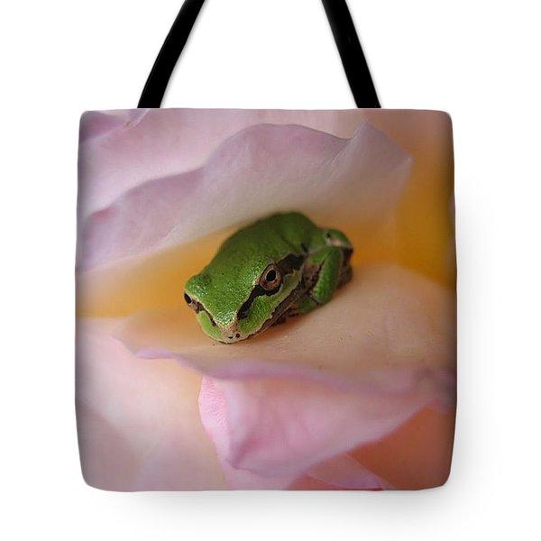 Frog And Rose Photo 2 Tote Bag