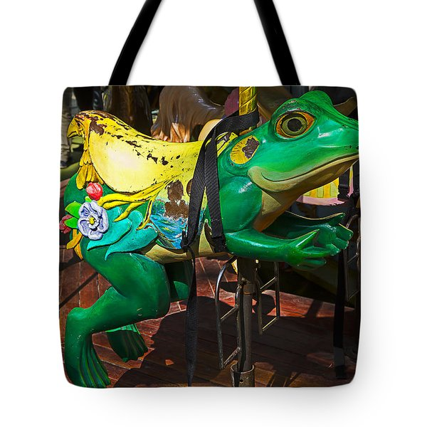 Frog Carrousel Ride Tote Bag by Garry Gay