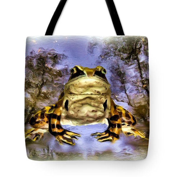 Tote Bag featuring the digital art Frog by Daniel Janda