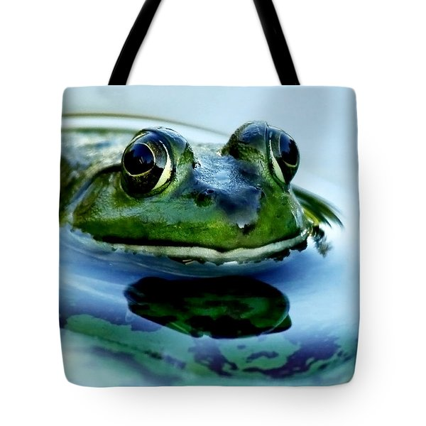 Green Frog I Only Have Eyes For You Tote Bag