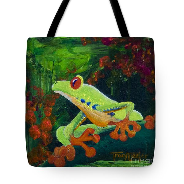 Frog Heaven Tote Bag by Tracy L Teeter