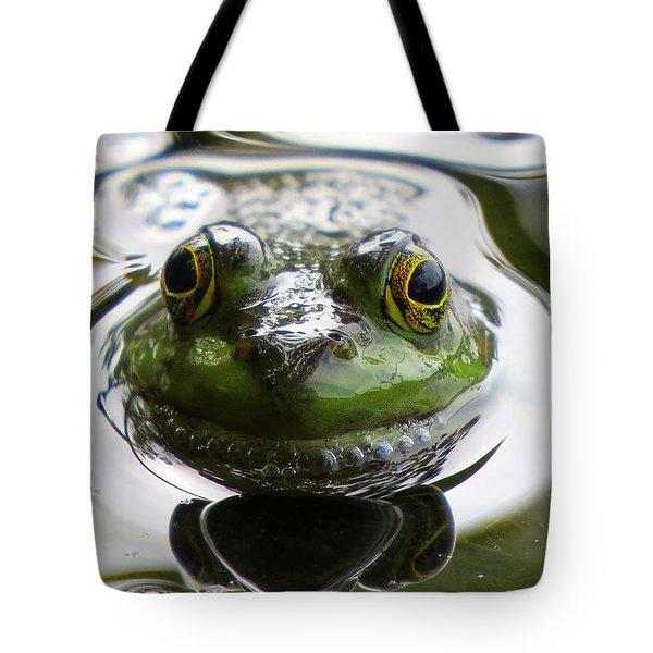 Frog Kiss Tote Bag by Dianne Cowen
