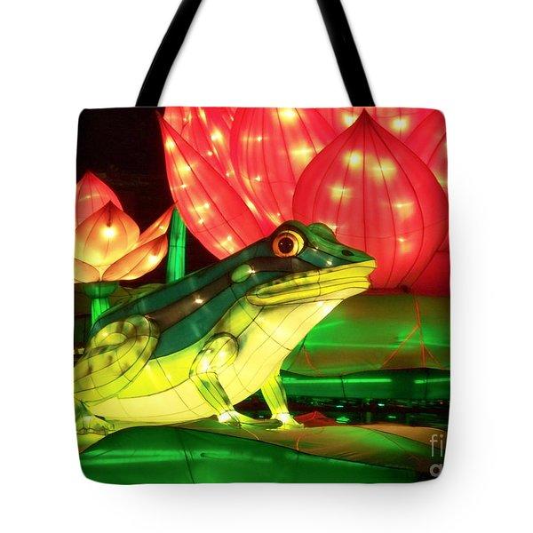 Frog Lantern Tote Bag