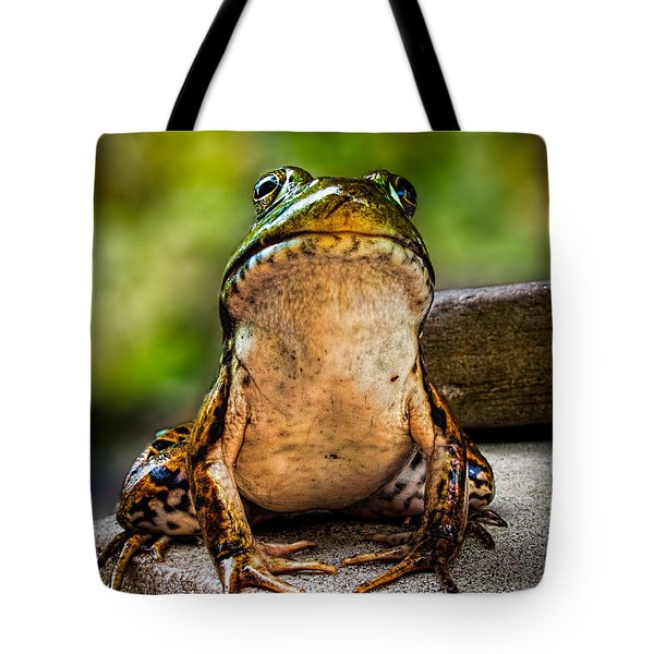 Frog Prince Or So He Thinks Tote Bag by Bob Orsillo