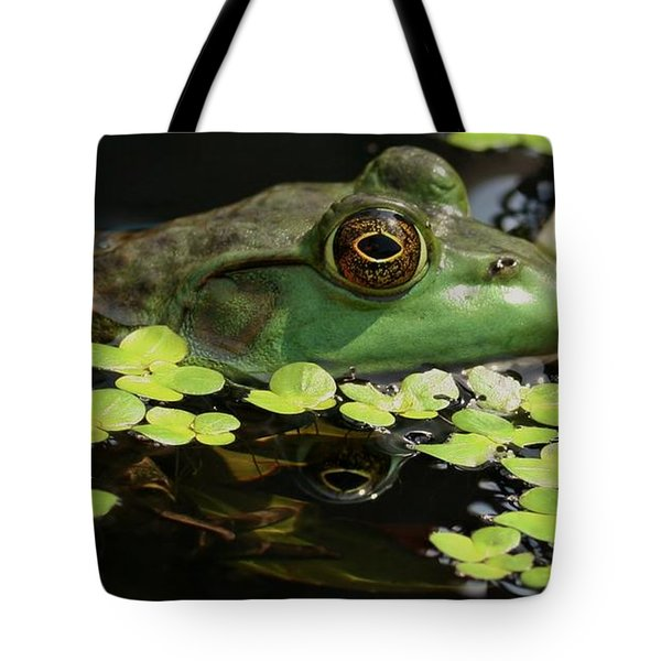 Frog Reflection Tote Bag by Barbara S Nickerson