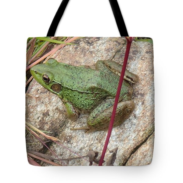 Tote Bag featuring the photograph Frog by Robert Nickologianis