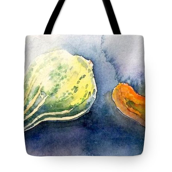 Froggy And Gourds Tote Bag