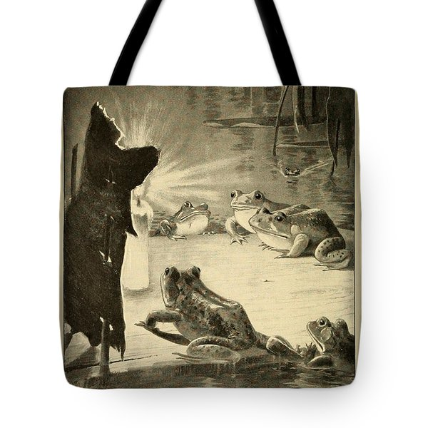 Frogs And Candle Tote Bag by Philip Ralley