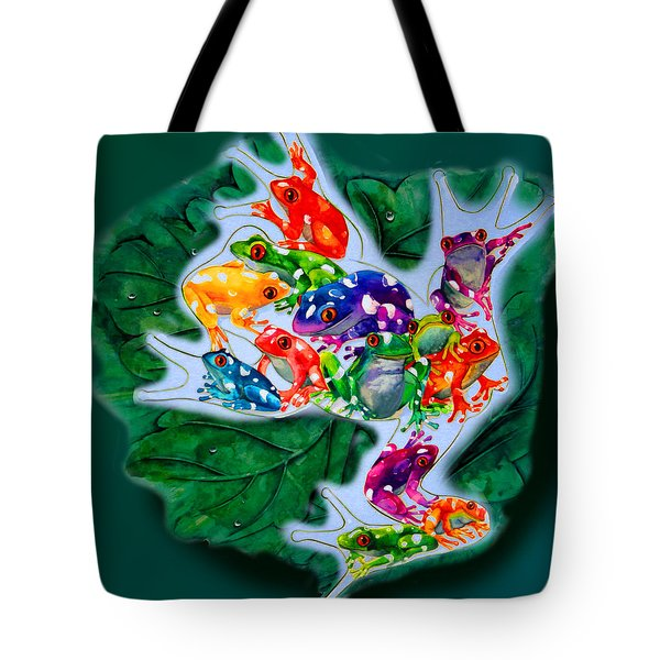 Frogs Tote Bag by Sherry Shipley