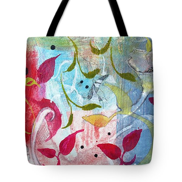 Tote Bag featuring the painting Frolic by Robin Maria Pedrero