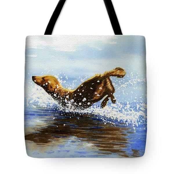 Frolicking Dog Tote Bag