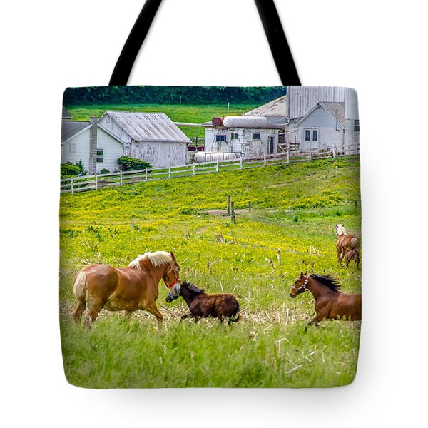 Frolicking Tote Bag by Guy Whiteley