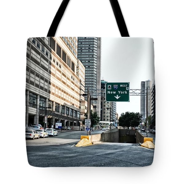 From Boston To New York Tote Bag