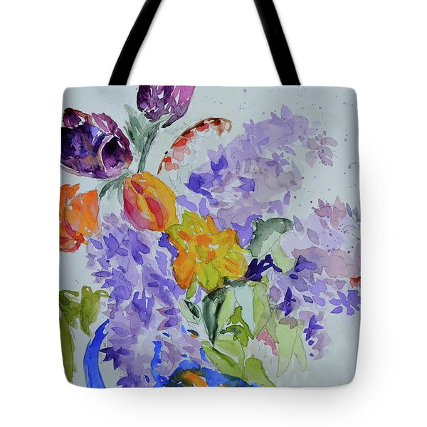 Tote Bag featuring the painting From Grammy's Garden by Beverley Harper Tinsley