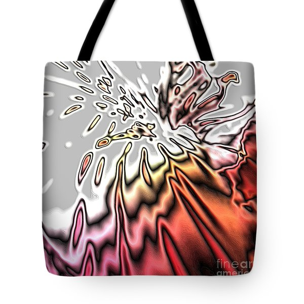 From Grey To Red. Beautiful Abstract Design Tote Bag