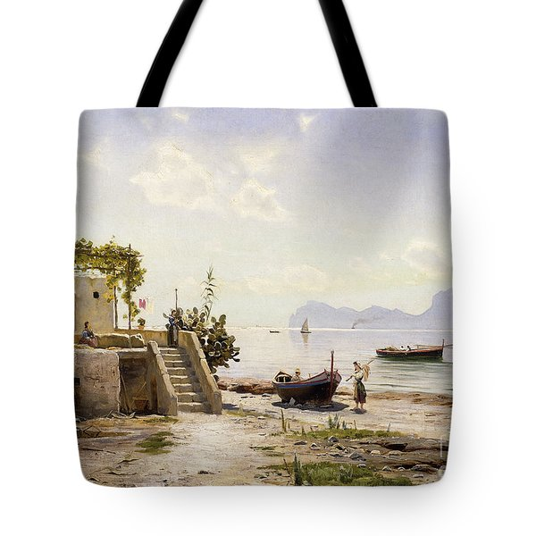 From Sorrento Towards Capri Tote Bag by Peder Monsted