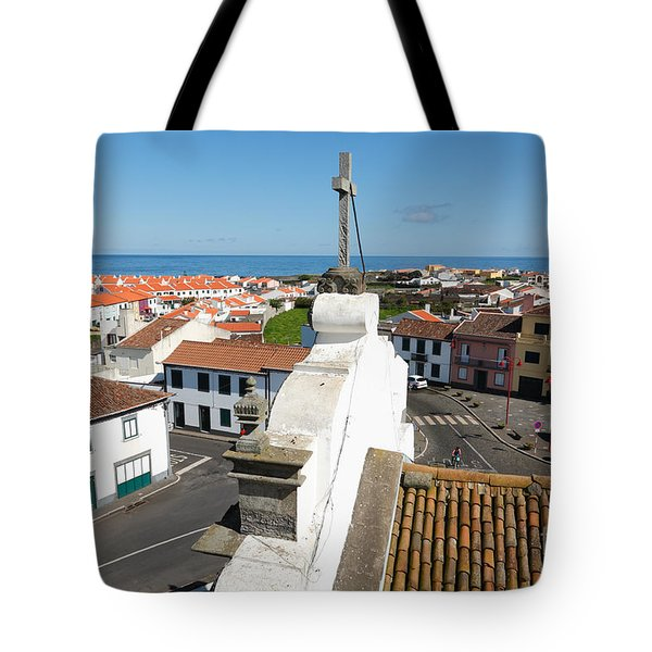 From The Church Tower Tote Bag by Gaspar Avila