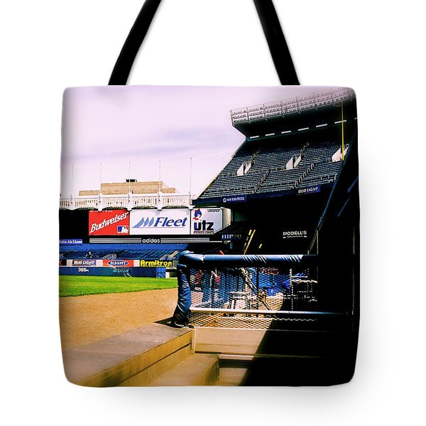From The Dugout  The Yankee Stadium Tote Bag