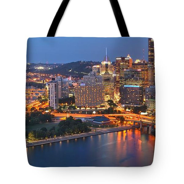 From The Fountain To Ft. Pitt Tote Bag
