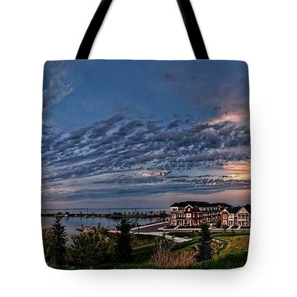 From The Hill Panorama Tote Bag