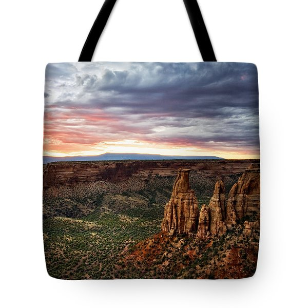 From The Overlook - Colorado National Monument Tote Bag by Ronda Kimbrow