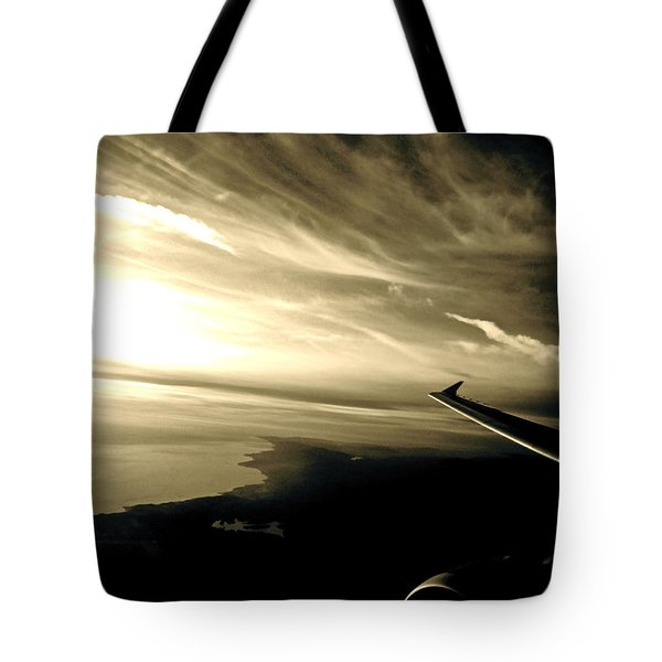 From The Plane Tote Bag by Gwyn Newcombe