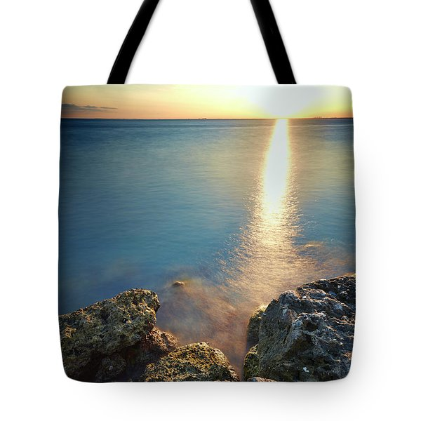 From The Sea Rocks Tote Bag by Eyzen M Kim