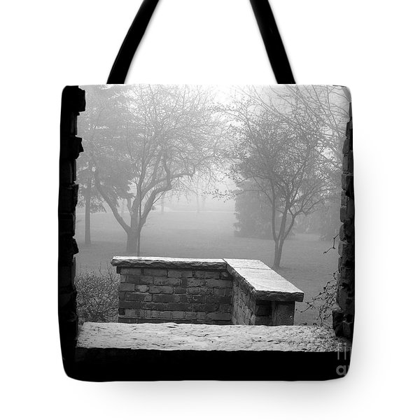 Tote Bag featuring the photograph From The Window by Susan  Dimitrakopoulos