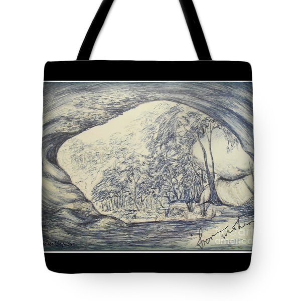 Tote Bag featuring the drawing From Within by Leanne Seymour