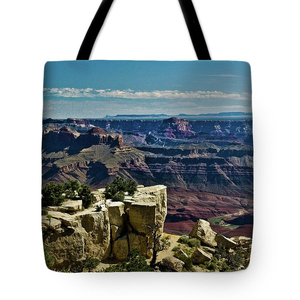 Tote Bag featuring the photograph From Yaki Point 2 Grand Canyon by Bob and Nadine Johnston