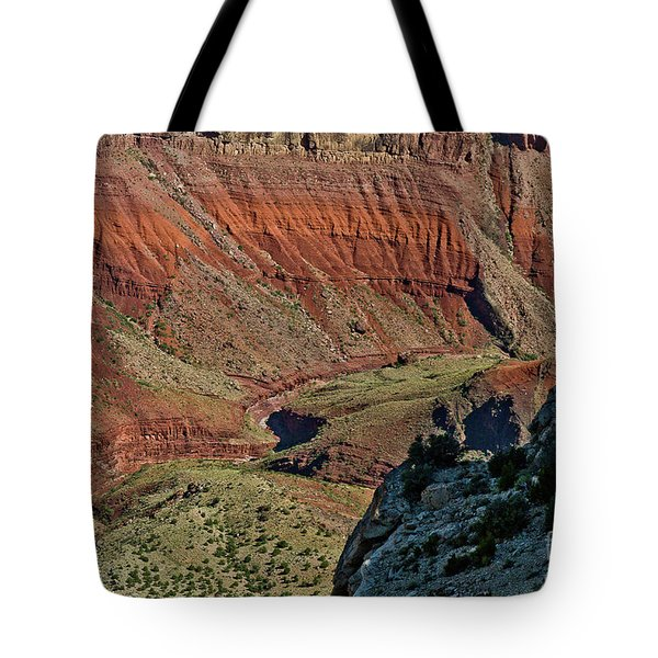Tote Bag featuring the photograph From Yaki Point 5 Grand Canyon by Bob and Nadine Johnston