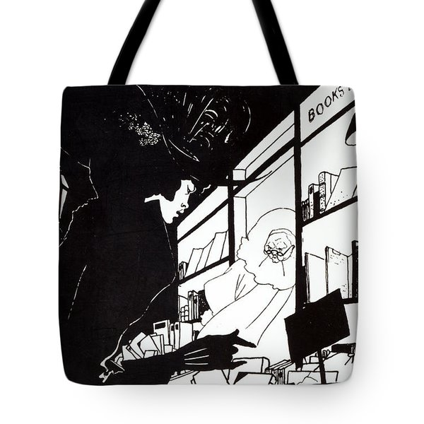 Front Cover Of The Prospectus For The Yellow Book Tote Bag by Aubrey Beardsley