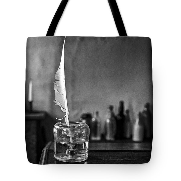 Front Desk Tote Bag by Jeff Burton