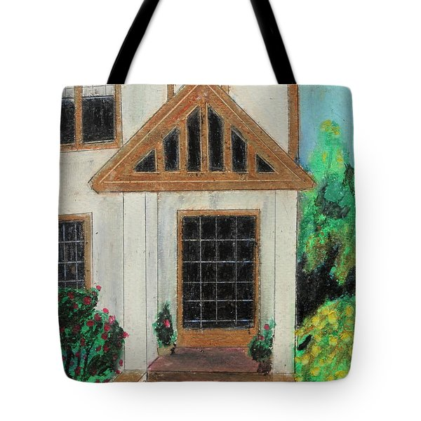 Tote Bag featuring the painting Front Door 1 by Jeanne Fischer