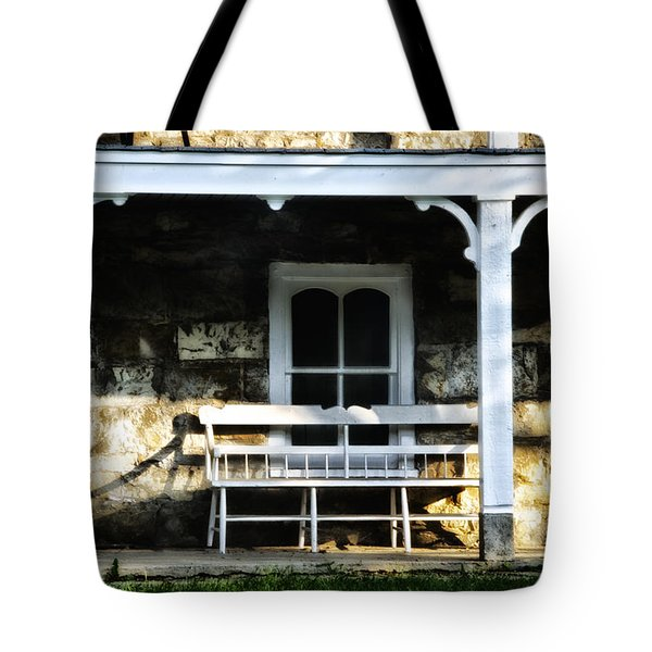 Front Porch Bench Tote Bag