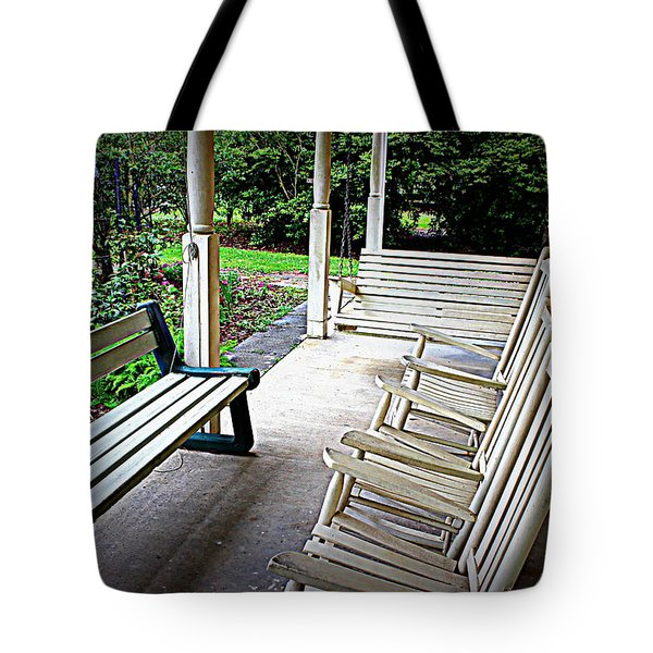 Front Porch Tote Bag by Beth Vincent