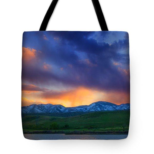 Front Range Light Show Tote Bag by Darren  White