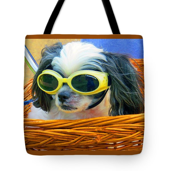 Front Seat Driver - Puppy Mania Tote Bag