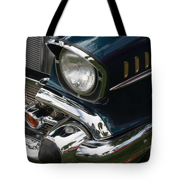 Front Side Of A Classic Car Tote Bag