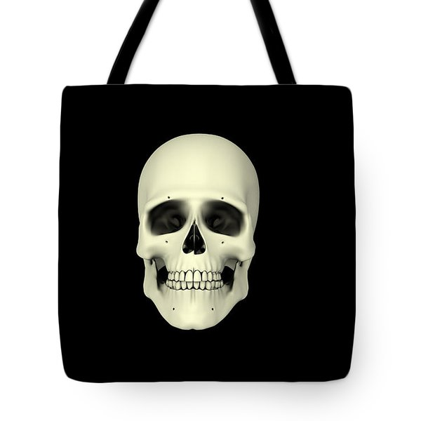 Front View Of Human Skull Tote Bag by Stocktrek Images